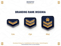 Branding rank insignia - Brandman Design Co. Enamel Pins