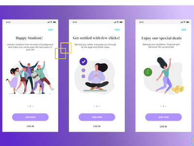 Happy Student onboarding ux branding illustration clean @daily-ui character @app logo application @2x