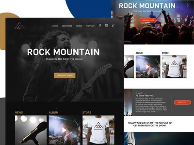 Landing page Concert Dark theme @design branding app @daily-ui clean character @art @appdesign application @2x