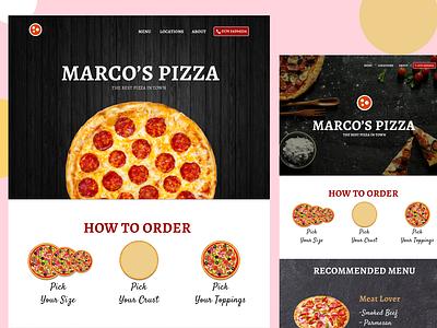 Restaurant website Pizza branding @app app logo @daily-ui clean character @appdesign application @2x