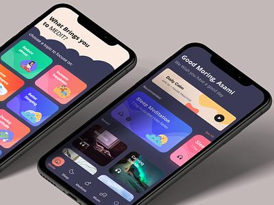 darkmode minimalism app workspace redesign art mood uxdesign uiux meditations