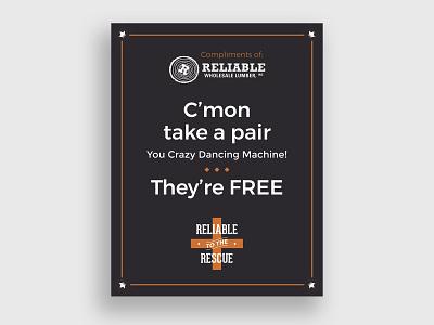 RWLI Sawmill Saloon Flip Flop Sign design