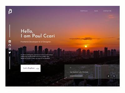 Personal Website | Portfolio Front End frontend front-end web design portfolio page ui minimal app typography ux web design