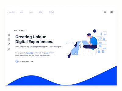 Portfolio UI UX Design | Frontend Developer uidesign icon web design ux portfolio page minimal frontend web design