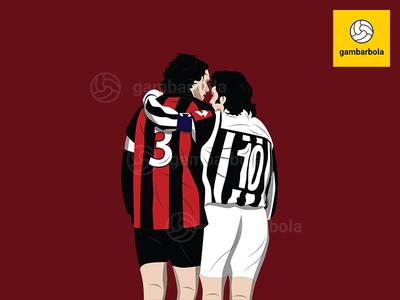 Maldini And Del Piero - Classic Serie A Memories