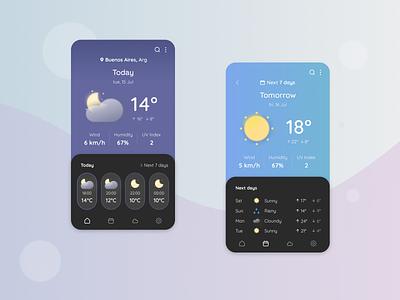 DailyUI 37 - Weather - Service Design Club mobile interface dailyuichallenge daily ui weather ui designer graphic design ui
