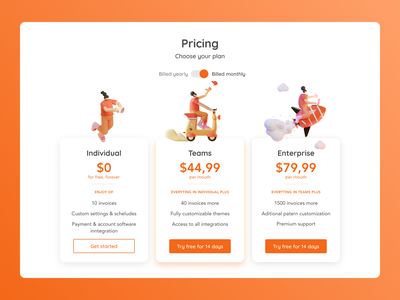 DailyUI 30 - Pricing - Service Design Club web design graphic design interface ui challenge dailyui ui
