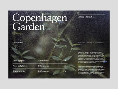 Copenhagen Garden — Main Page branding art direction design grid layout ux web minimal typography