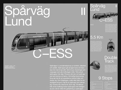 Presentational Layout — Lund Tram website studio photography branding art direction design grid layout minimal typography