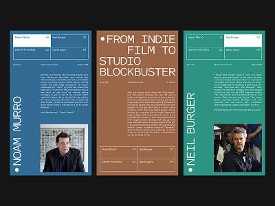 Indie Directors Club ux website branding art direction design grid layout web minimal typography