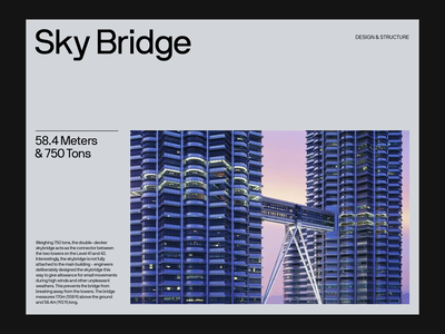 Petronas Towers — Slide Deck branding art direction photography grid web layout minimal typography