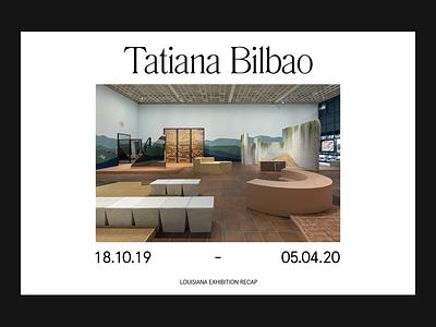 Exhibition Recap — Layout branding website art direction design grid layout ux web minimal typography