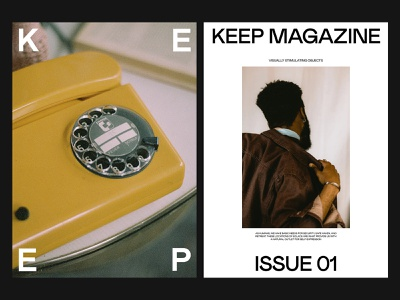 Keep Magazine — Art Direction branding art direction photography grid layout web minimal typography