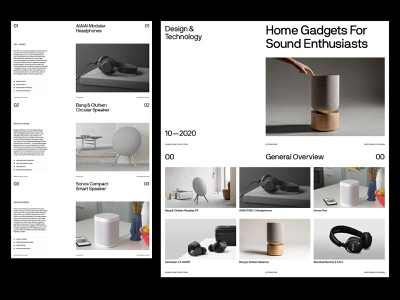 Sound Gadgets — Presentation branding website ui ux grid art direction presentation layout web minimal typography