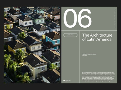 Architecture Mag — Layout design ui ux website art direction photography grid layout web typography