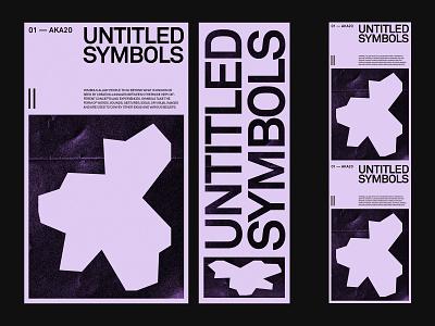Untitled Symbols — Identity web ui ux website branding art direction design layout minimal typography