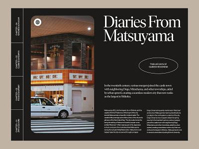 Photo Diary — Layout design website branding art direction ui ux web layout minimal typography