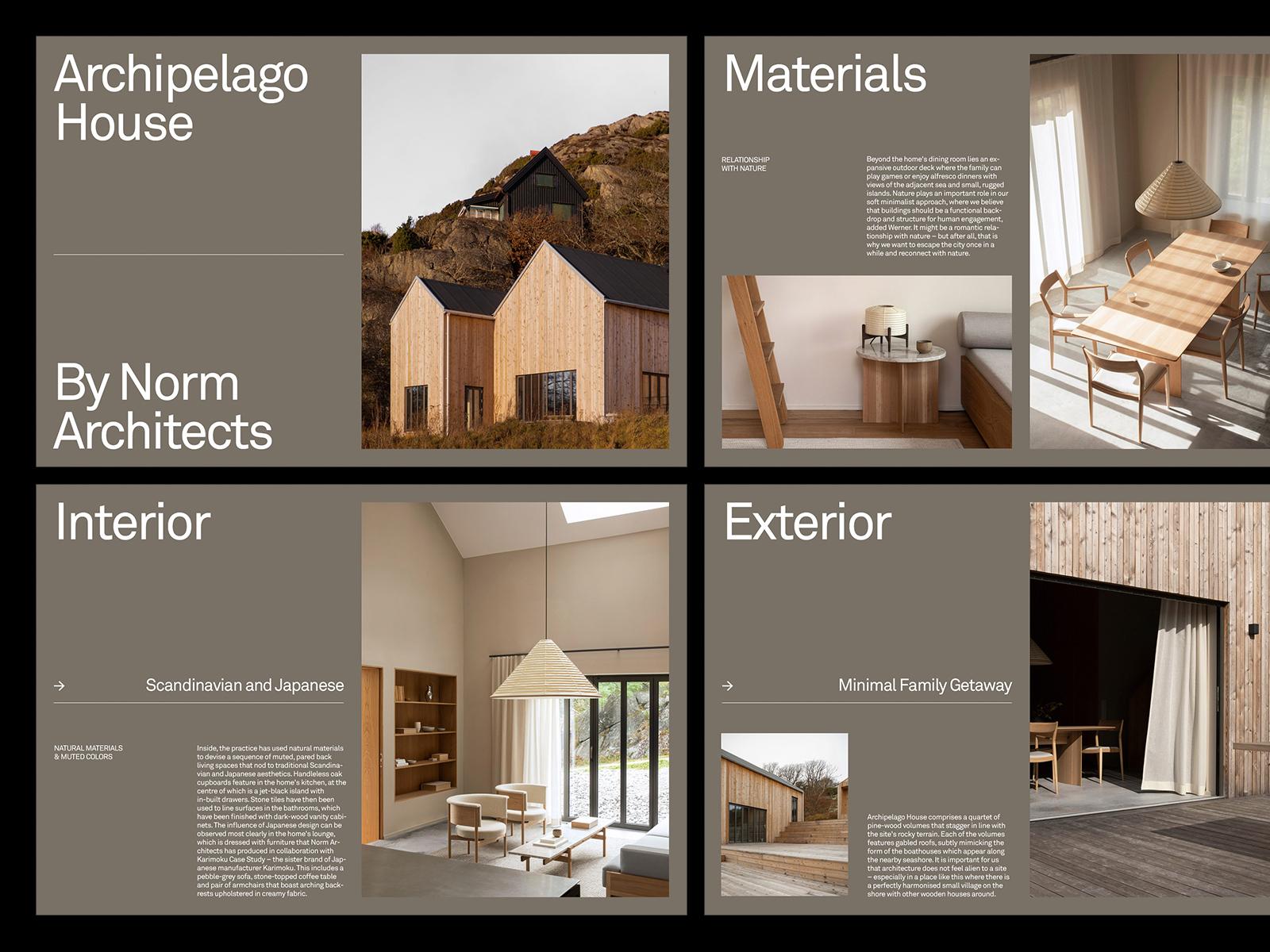 Archipelago House — Layout