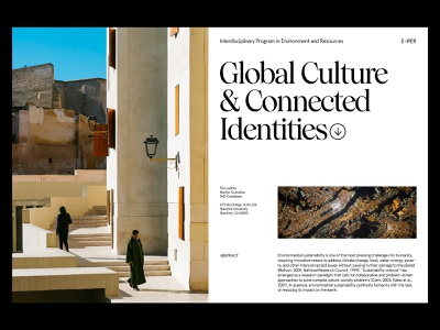 Global Culture — Scientific Study branding website photography art direction design grid layout web minimal typography