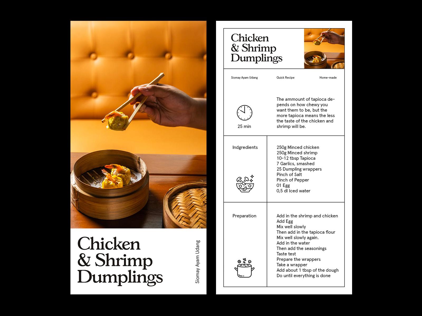 Dumplings Recipe — Layout