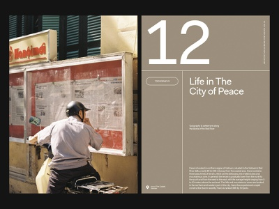 Hanoi Life — Layout website art direction grid web layout typography