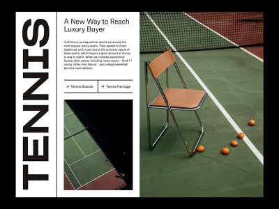 Luxury Sports — Tennis Layout layout branding art direction grid ux web typography