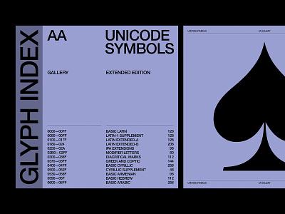 Glyph Index — Presentation ux website branding design art direction web layout typography