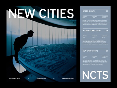 New Cities — Layout art direction ux web layout minimal typography