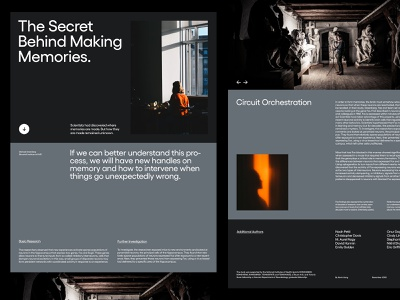 Science Journal — Landing Page layout grid website ui design art direction ux web typography