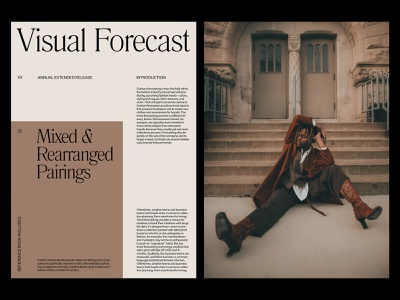 Visual Forecast — Magazine Spread website layout photography design art direction grid minimal typography