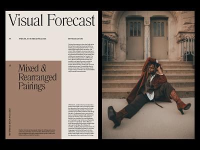 Visual Forecast — Magazine Spread website layout photography design art direction grid minimal typography