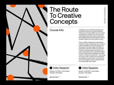 Creatives Course — Landing ui website art direction web ux minimal typography