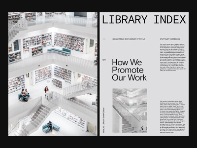 Library Index — Visual Design art direction ui website ux layout minimal typography