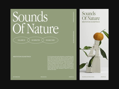 Sounds Of Nature — Cover studio branding design photography art direction grid ux layout minimal typography