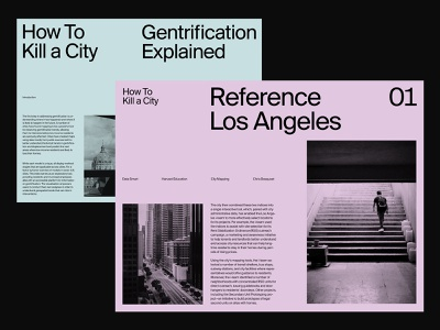 Gentrification Article – Layout studio agency ux branding art direction grid web layout minimal typography