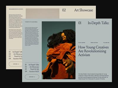 Art Platform – Layout presentation website branding art direction ux web layout minimal typography