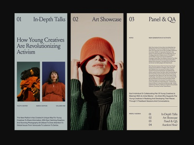 Art Platform – Cards ui presentation branding design art direction ux web layout minimal typography
