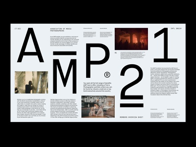 AMP Overview – Layout presentation design agency grid art direction ux web layout minimal typography