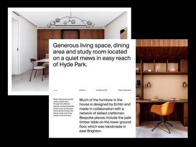 Architectural Project Presentation presentation design website art direction ux web layout minimal typography
