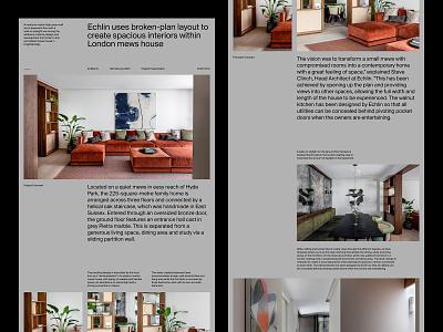 Architecture Web Landing presentation design grid ux art direction web layout typography