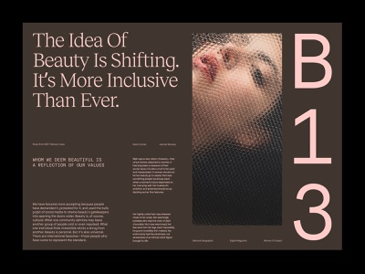 Beauty Article – Layout presentation branding layout ux art direction web minimal typography