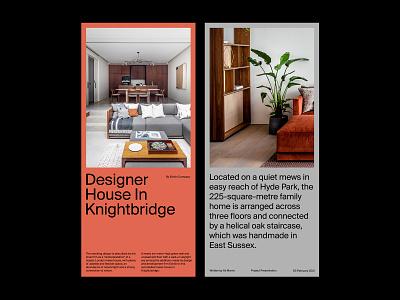 Property Cards – Presentation presentation ux web website design art direction layout typography