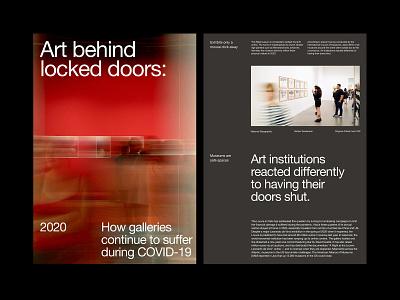 Museum Article – Layout presentation design art direction ux web layout minimal typography