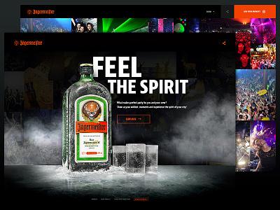 Jagermeister website website typography layout drink gallery