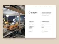 Contact page — Stahl house