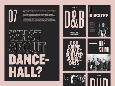 UK Genres — Layouts bold modern studio photography music pink layout typography minimal