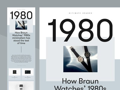 Braun Legacy — Layout editorial art direction studio ui ux agency typography grid layout