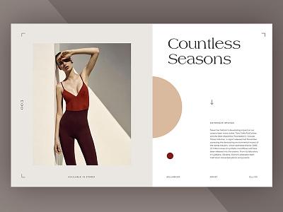 Swimwear Website editorial website ui ux minimal typography agency grid layout
