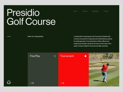 Golf Course — Header