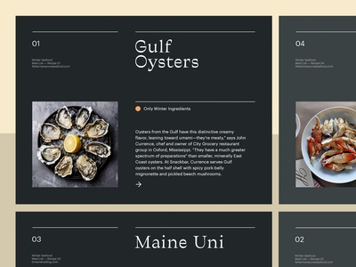 Seafood Recipes — Layout